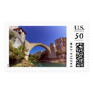 Stari Most, old bridge, Mostar, Bosnia and Herzego Postage