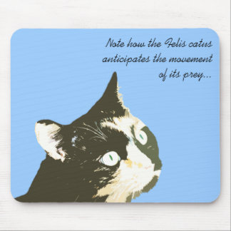 Staring Cat Mouse Pad