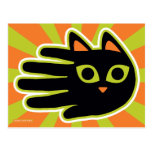 Hand shaped Staring Cat Postcard