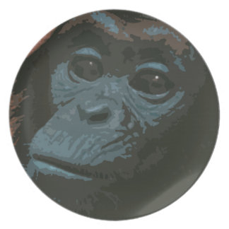 Staring Chimp Face Plate (blue)
