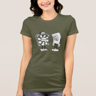 Staring Contest Ladies T-Shirt: Army T-Shirt