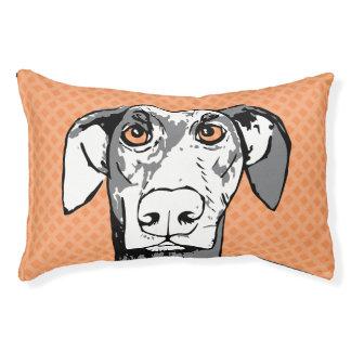 Staring dog original artwork dog bed