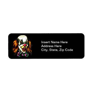 Staring Evil Clown Label