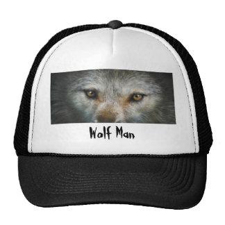 Staring Grey Wolf Eyes Wildlife Art Trucker Hat