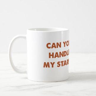 Staring Pug Orange Classic White Coffee Mug