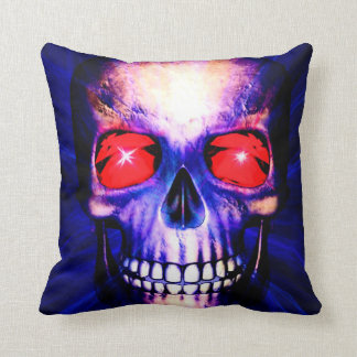 Staring skull throw pillow