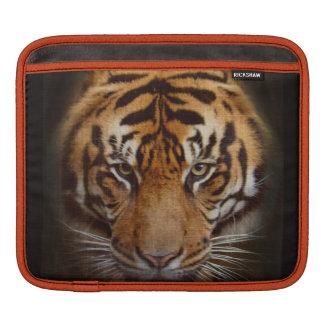 Staring Tiger Wildlife Fine Art iPad Sleeve