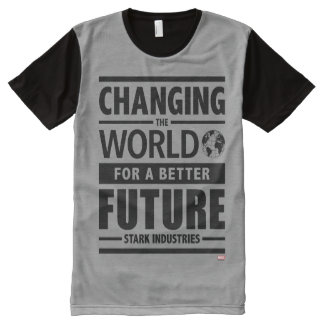 Stark Industries Changing The World All-Over-Print Shirt