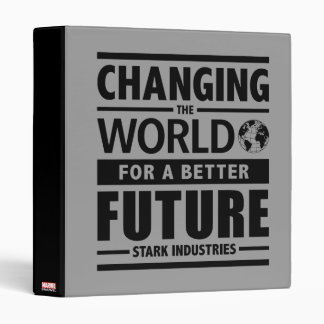Stark Industries Changing The World Binder