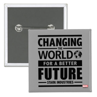 Stark Industries Changing The World Button