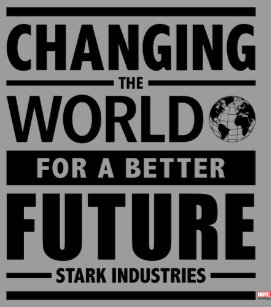 Tony stark art wall dcor zazzle stark industries changing the world square wall clock colourmoves