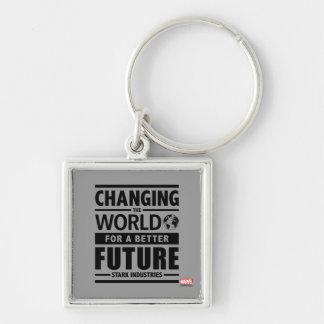 Stark Industries Changing The World Keychain