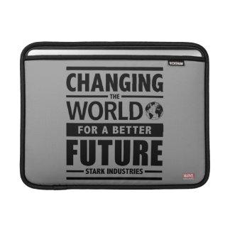 Stark Industries Changing The World MacBook Sleeve