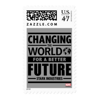 Stark Industries Changing The World Postage