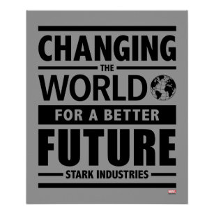 Tony stark art wall dcor zazzle stark industries changing the world poster colourmoves