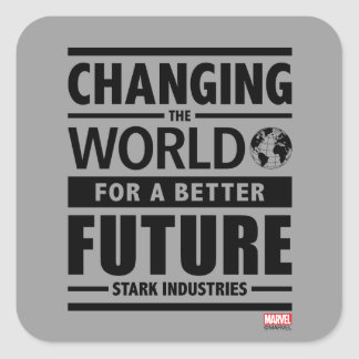 Stark Industries Changing The World Square Sticker