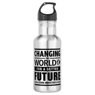 Stark Industries Changing The World Water Bottle