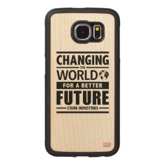 Stark Industries Changing The World Wood Phone Case