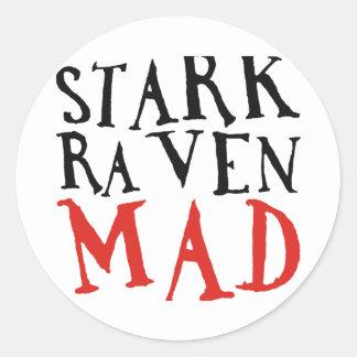 Stark Raven Mad Classic Round Sticker
