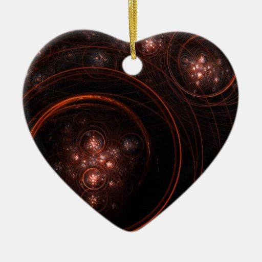 Starlight Abstract Art Heart Ornament
