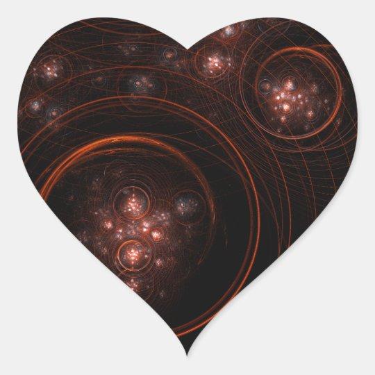 Starlight Abstract Art Heart Sticker