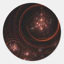 stargate, abstract, art, round, sticker, Sticker with custom graphic design
