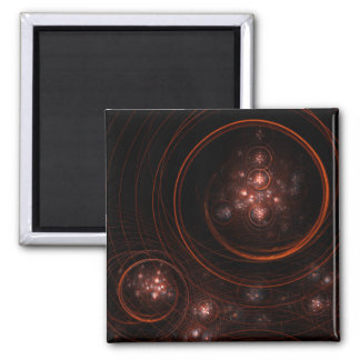 Starlight Abstract Art Square Magnet