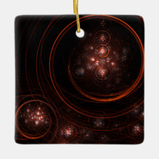 Starlight Abstract Art Square Ornament