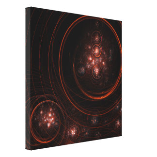 Starlight Abstract Art Wrapped Canvas Print