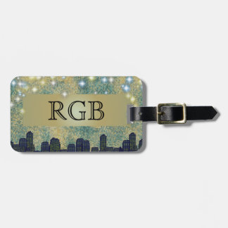 Starlight City Nights Bag Tag
