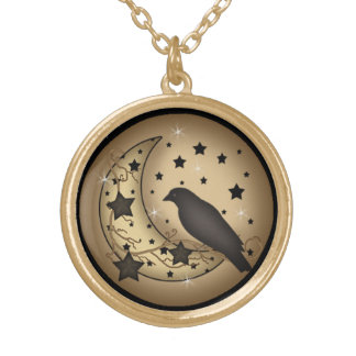 Starlight Crow Pendant Necklace