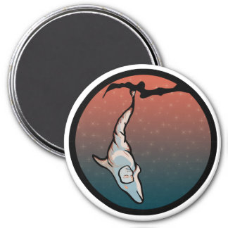 starlight dolphin cocoon fridge magnet