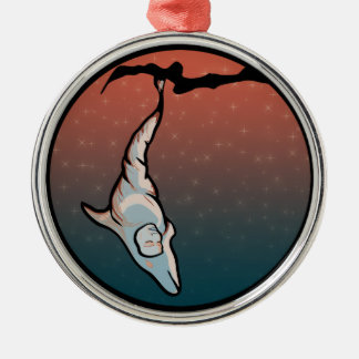 starlight dolphin cocoon metal ornament