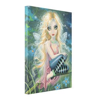 Starlight Fairy Fantasy Art Wrapped Canvas Canvas Print