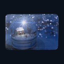 Starlight Globe Christmas Bath Mat
