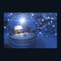 Starlight Globe Christmas Canvas Print