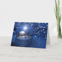 Starlight Globe Christmas Card