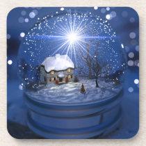 Starlight Globe Christmas Coasters