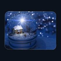 Starlight Globe Christmas Flexible Magnet