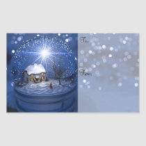 Starlight Globe Christmas Gift Labels