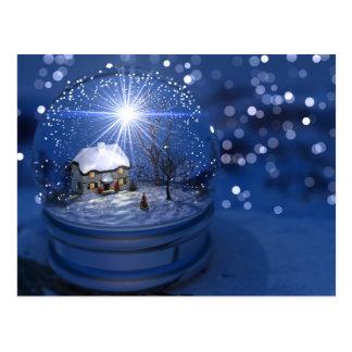 Starlight Globe Christmas Postcard