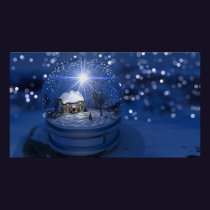 Starlight Globe Christmas Print