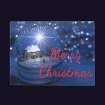Starlight Globe Merry Christmas Doormat