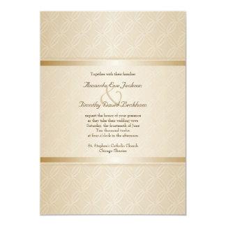 Starlight Golden Flare Monogrammed Elegant Wedding Card