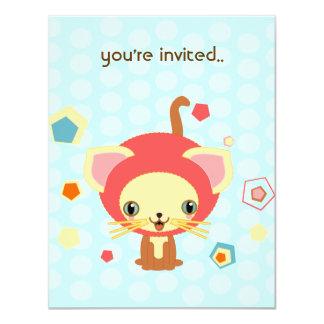 starlight kitten 4.25x5.5 paper invitation card