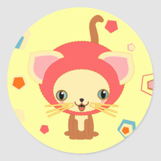 starlight kitten classic round sticker