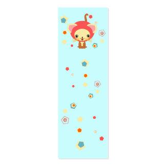 starlight kittten bookmark mini business card