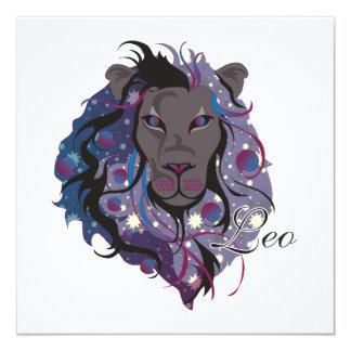 """Starlight Leo Invitations 5.25"""" Square Invitation Card"""