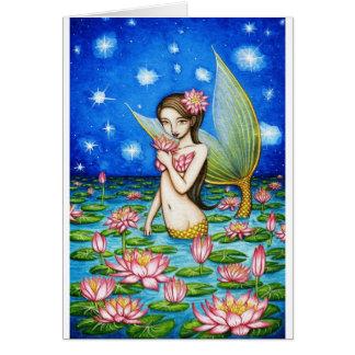 Starlight Lily Mermaid Card