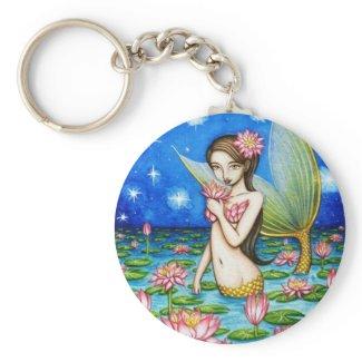 Starlight Lily Mermaid zazzle_keychain